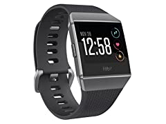 Fitbit FB503GYBK Ionic GPS Smart Watch, Charcoal/Smoke