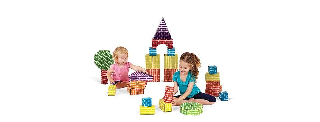 Edushape 45Pc Corrugated Blocks & Shapes