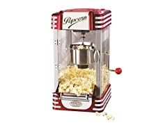 Retro Kettle Popcorn Maker- Red