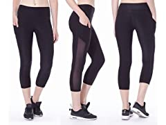 Women's Mesh Active Capri Leggings