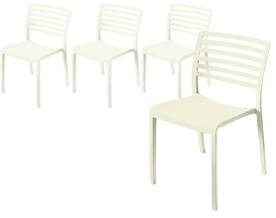 plastic modern dining chairs cream