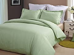 Hotel Peninsula Duvet Set-Sage-2 Sizes