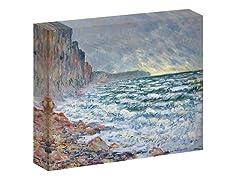 Monet Fécamp, bord de mer, 1881