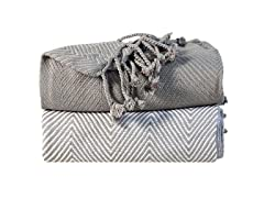 Soft Cotton Hand Twisted Throw (Set of 2)
