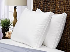 2 Pack Gusseted Soft Pillow