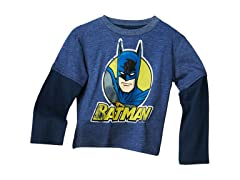 Batman Long Sleeve Tee - Navy (2T-4T)