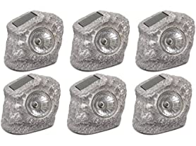 Touch of Eco Solar Rock Lights (6-Pack)