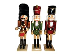 "Santa's Workshop 14"" Wood Nutcracker, Set of 3"