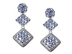 SS Tanzanite Triple Drop Earrings
