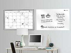 "24""x36"" White Board & Monthly Calendar"