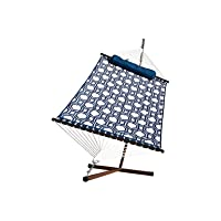 Deals on Algoma 6291WL Quilted Hammock and Stand with Pillow