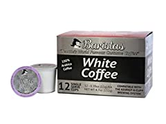 Baristas White Coffee Single Serve Coffee Cups, 12ct