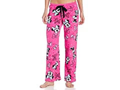 Disney Women's Minney Mouse Angel Fleece Pant, Pink