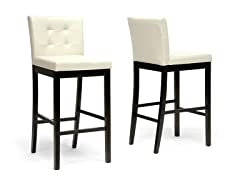 Prospect Cream Bar Stool- Set of 2