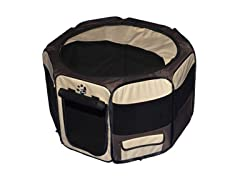 Octagon Pet Pen w/Removable Top - Sahara