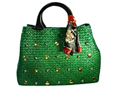 Straw Bag, Green