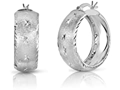 Sterling Silver DC Bangle Hoops