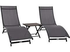 Vivere Coral Springs 3pc Lounger Set