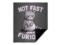 """""""Not Fast, Just Furious"""" Camp Blanket"""
