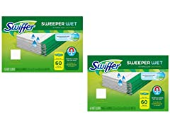 Swiffer Sweeper Wet Cloth Refill, 120 Ct