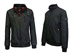 Men's Lightweight Moto Bomber Jacket