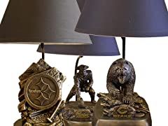 NFL Table Lamps with Shades - 7 Teams