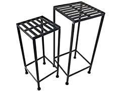 Iron Plant Stand, 2 Nested