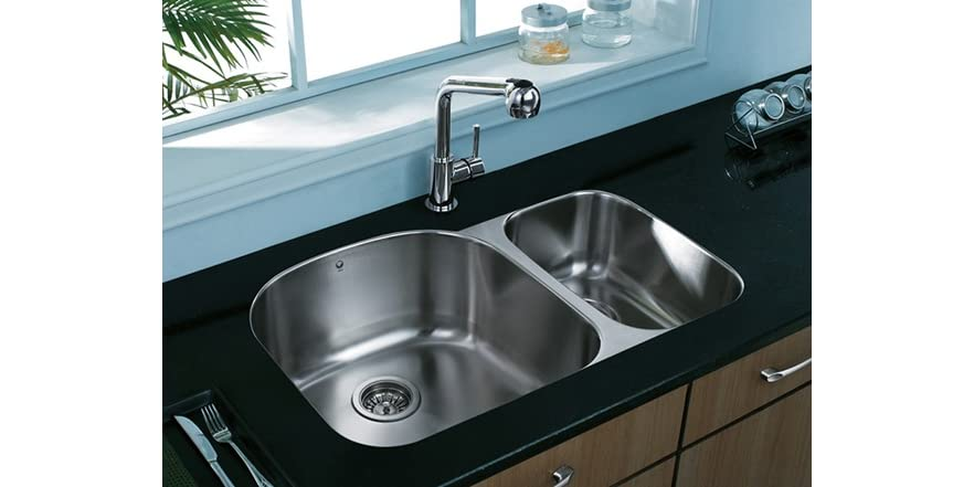 31 inch undermount stainless steel 18 gauge double bowl - 18 inch kitchen sink ...