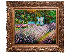 Monet - Artist's Garden at Giverny: 24X20