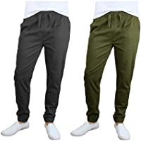 2-Pack Men's Cotton Stretch Twill Joggers