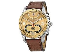 SwissArmy Men's Victorinox Leather Watch