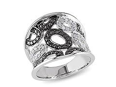 0.20cttw Black Diamond Ring