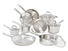 T-fal Stainless Cookware Sets - 2 Styles