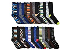 John Weitz Men's Dress Socks 30-Pairs