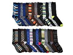 John Weitz Men's Dress Socks 30-Pairs