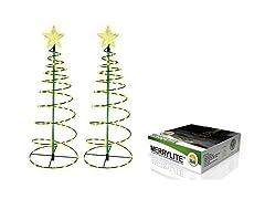 MERRYLITE Solar LED 2-ft Christmas Tree