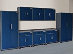 (2) Tall, (3) Base, and (3) Wall Steel Cabinet Set
