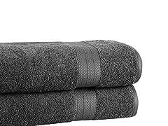 2-Pc Soft Cotton Bath Sheets