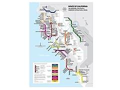 Metro Wine Map of California