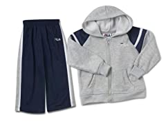 Navy/Gray Fleece Set