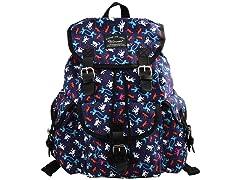 Canvas Floral Teenage School Backpack