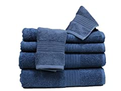 6Pc Towel Set-Denim