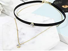 Double Layer Bezel Choker