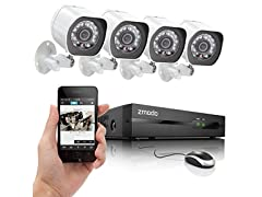 Zmodo 4-Channel 720p Camera sPoE NVR Security System