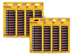 Kodak Extra Heavy Duty AA Batteries - 160 Pack