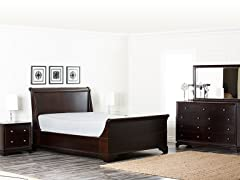 Espresso 5PC Bedroom Set (3 Sizes)