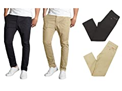 Men's Slim Fit Stretch Chinos 2-Pack