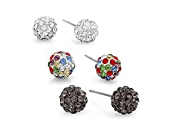 3-Pack Fireball Stud Earrings