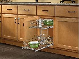 "Small Two-Tier Chrome Basket, 11""5"