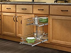 """Small Two-Tier Chrome Basket, 11""""5"""